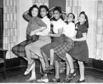 Girls' Dance Team, Blue Triangle Branch of the YWCA of Des Moines, Des Moines, Iowa, March 25, 1941