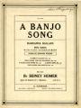 A banjo song : op. 22, no. 4