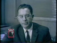 "WSB-TV newsfilm clip of governor Ernest Vandiver and mayor William B. Hartsfield responding to the full-page advertisement ""An Appeal for Human Rights"" published in newspapers by a student civil rights group in Atlanta, Georgia, 1960 March 9"
