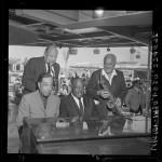 Wayne King, Count Basie, Duke Ellington and Bill Elliot at Big Band Festival at Disneyland (Calif.), 1964