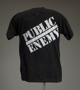 T-shirt with Public Enemy logo