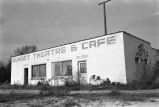 Sunset Theatre and Cafe exterior building.