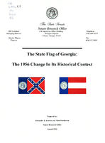The state flag of Georgia : the 1956 change in its historical context / prepared by Alexander J. Azarian and Eden Fesshazion