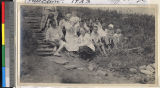 Missionaries at summer resort near Haizhou, Jiangsu, China, 1923
