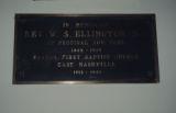 First Baptist Church East Nashville: plaque