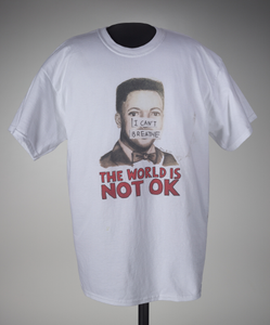 T-shirt with an illustration of Eric Garner