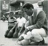Bill Cosby, back in old neighborhood in Philadelphia, Pennsylvania, 1968