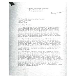 Letter, Judge Garrity, January 5, 1975