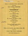 Ouanga souvenir program, 1949