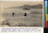 Missionary children bathing in the sea near Haizhou, Jiangsu, China, ca.1925