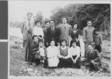 Harry R. Fox with Members of the Community, Ibaraki, Japan, 1953