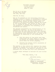 Letter from Martin P. Chworowsky to W. E. B. Du Bois