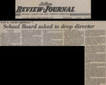 Newspaper clippings from the Las Vegas Review-Journal of articles by Mary Hausch on desegregation of Clark County Schools, 1971