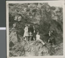 Students Standing at a Cliffside, Ibaraki, Japan, ca.1948-1952