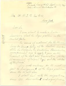 Letter from Kurt Weimar to W. E. B. Du Bois