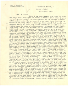 Letter from Robert Broadhurst to W. E. B. Du Bois