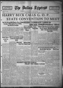 The Dallas Express (Dallas, Tex.), Vol. 31, No. 23, Ed. 1 Saturday, April 19, 1924 The Dallas Express