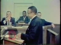 WSB-TV newsfilm clip of the Atlanta Board of Education responding to charges that discriminatory segregation exists in local schools, Atlanta, Georgia, 1967 October 9