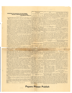 Address to country of National Negro-American Political League of the U.S