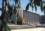 View of the Varsity Theatre, from opposite side of Wisconsin Avenue, 1973