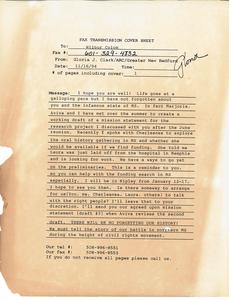 Letter from Gloria Xifaras Clark to Wilbur Colom