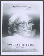 National victory celebration for Rosa Louise Parks, sunrise, February 4, 1913, sunset, October 24, 2005, Wednesday, the second day of November, two thousand and five, eleven o'clock ante meridiem, Bishop Charles H. Ellis III, host pastor, Greater Grace Temple, the Right Reverend Philip Robert Cousin, presiding prelate, 4th Episcopal District, A.M.E. Church, eulogist