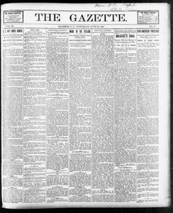 The Gazette. (Raleigh, N.C.), Vol. 9, No. 19, Ed. 1 Saturday, June 26, 1897 The Gazette The Weekly Gazette
