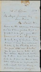 Letter from John Sweat Rock, [Boston, Massachusetts], to William Lloyd Garrison, [1858]