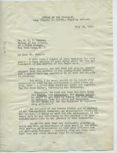Letter from Louis A. Carter to W. E. B. Du Bois