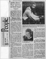 """""""'Jabbo Jones,' 'Lust' opening on local stages,"""" by Paula Crouch. In The Atlanta Constitution, December 5, 1985, page 2B"""
