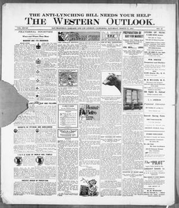 The Western Outlook. (San Francisco, Oakland and Los Angeles, Calif.), Vol. 28, No. 28, Ed. 1 Saturday, March 25, 1922 The Western Outlook