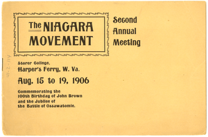 Niagara Movement Second Annual Meeting Program Copy 2