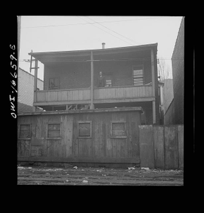 Detroit, Michigan. Back view of a Negro's home. These are conditions under which families originally lived before moving to the Sojourner Truth housing project