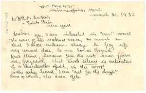 Letter from J. M. Boddy to W. E. B. Du Bois
