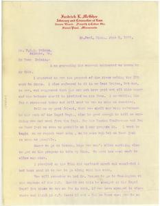 Letter from Fredrick L. McGhee to W. E. B. Du Bois