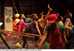 [Performers dancing together] Hip Hop Broadway: The Musical