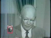 WSB-TV newsfilm clip of president Dwight D. Eisenhower making a public statement about the school integration crisis at Central High School in Little Rock, Arkansas from the White House in Washington, D.C., 1957 September 24