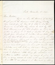 Letter to] Dear Madam [manuscript