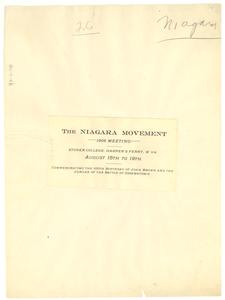 Thumbnail for Niagara Movement 1906 Meeting Announcement