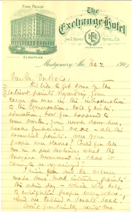Letter from Ray Stannard Baker to W. E. B. Du Bois