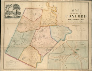 Thumbnail for Map of the town of Concord: Middlesex County Mass., surveyed by authority of the town
