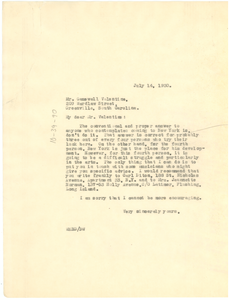 Letter from W. E. B. Du Bois to Gamewell Valentine