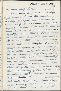 Letter from James Miller M'Kim, Philadelphia, [Pennsylvania], to Mary Anne Estlin, [1857?] December 8