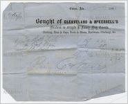 Receipt for payment from John Cocke to Cleveland and McKerrell's, Eutaw, Alabama, September 13, 1860