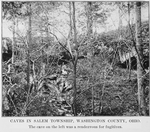 Thumbnail for Caves in Salem township, Washington County, Ohio; The cave on the left was a rendezvous for fugitives