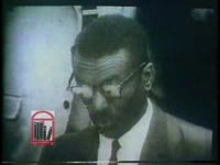 WSB-TV newsfilm clip of Reverend Fred Shuttlesworth reading the terms of a demonstration-ending agreement between African American civil rights demonstrators and white leaders in Birmingham, Alabama, 1963 May 10