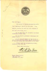 Circular letter to members of the Niagara Movement