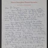 Correspondence. (Box 1, Folder 3)