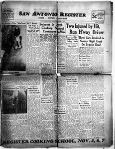 San Antonio Register (San Antonio, Tex.), Vol. 11, No. 38, Ed. 1 Friday, October 24, 1941 San Antonio Register