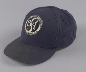 Navy blue baseball cap for the Black Stuntmen's Association